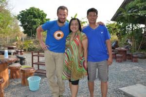 Mit Nongyao und Om vom Jira Homestay